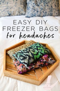 As a life long migraine sufferer, these easy DIY freezer bags are my favorite natural way to find fast relief from all kinds of headaches. The weight of these bags helps relieve tension, stress and the pressure from sinus headaches. And they are perfectly safe for pregnancy and kids!