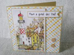 Fathers Day card card for Dad handcrafted seaside by jujucards, £2.00