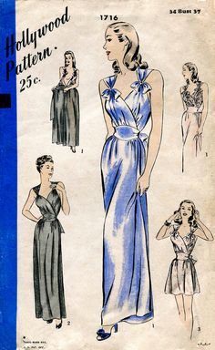 30s 1930s 40s 1940s vintage lingerie sewing by LadyMarloweStudios