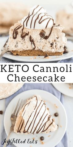 Cannoli Cheesecake Low Carb Keto Grain-Free Gluten-Free Sugar-Free THM S Cannoli cheesecake Cannoli, Brownie Desserts, Mini Desserts, Easy Desserts, Low Carb Sweets, Low Carb Desserts, Low Carb Recipes, Diabetic Dessert Recipes, Low Carb Dessert Easy