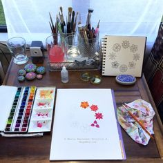 For me nature is an endless source of inspiration, so is my journal. I like to look at flowers and draw my mandala version of them in ...