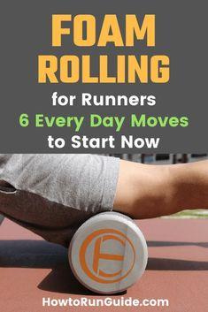 Exercise For Beginners Foam Rolling for Runners - start these 6 moves every day for muscle recovery and more. - Why is foam rolling for runners so important? Find out. Plus 6 crucial foam rolling moves every runner needs to do regularly. Running Injuries, Running Workouts, Running Tips, Fun Workouts, Stretching Workouts, Stretches, Running For Beginners, How To Start Running, Workout For Beginners