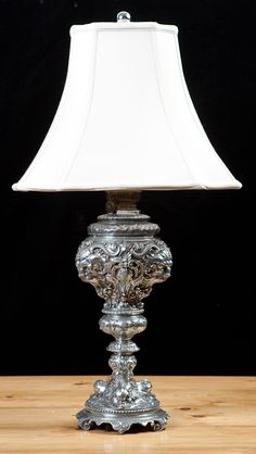 Antique Nickel-Plated Table Lamp  www.bonninashley.com