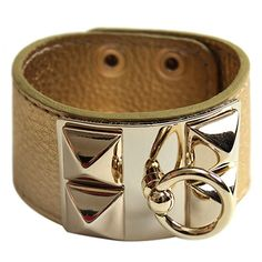 High quality gold leather cuff