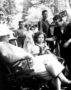 Shirley Temple on the set of Heidi, 1937