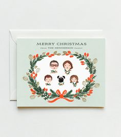 CUSTOM ILLUSTRATED Mint Garland Cards