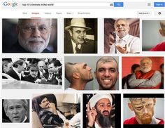 #NarendraModi tops in the list of '#Top10criminals' on #Google image search #trending