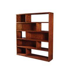"""Primativa Bookcase   Primativa Bookcase  Caribbean Pine  71"""" W x 16"""" D x 81"""" H  Finish/Color(s): Cinnamon"""