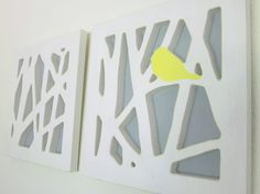 Love this idea...could probably use styrofoam to cut out the pieces and create the 3D effect.