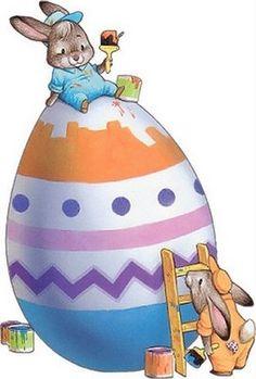 Pinned by sherry decker Easter Art, Easter Crafts, Easter Bunny, Easter Eggs, Easter Paintings, Easter Illustration, Easter Wallpaper, Easter Pictures, Easter Printables