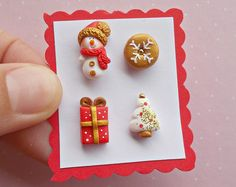 Christmas Earrings Set - Winter Earrings - Christmas Jewellery - Secret Santa Gift - Christmas Studs - Holiday Xmas Earrings