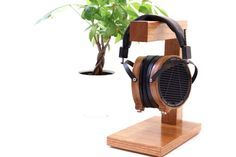 Tech Gift Men's Gift Custom Handmade Headphone Stand by WoodWarmth