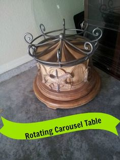 Rotating Carousel Coffee Table, Drum Type Base