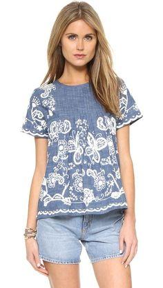 Sea Embroidered Tee