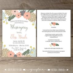 Autumn Mother Blessing Invitation Blessingway Invite Boho