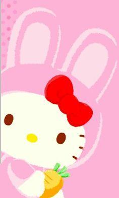Hello Kitty Wallpaper, Kawaii Wallpaper, Pink Wallpaper, Happy Palm Sunday, Hello Kitty Imagenes, Sanrio Danshi, Easter Wallpaper, Kawaii Cute, Clip Art