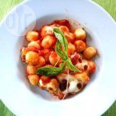 Nhoque ao molho gratinado @ allrecipes.com.br - Essa receita é conhecida como 'Gnocchi alla sorrentina', um prato com ingredientes simples e muito saboroso.