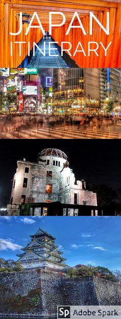 Japan one week itinerary. See Tokyo, Osaka, Hiroshima, Kyoto, Miyajima, Nara, Hakone and more