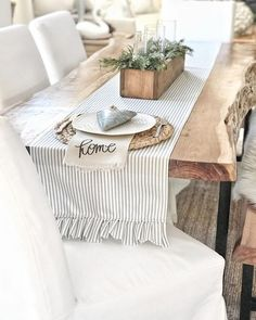 Farmhouse Dining Room Ideas are adorable and lasting this is simple and stunning rustic farmhouse to impress your dinner guests Find more about farmhouse dining style joa. Farmhouse Dining Room Table, Farmhouse Decor, Dining Tables, Farmhouse Design, Farmhouse Table Runners, Farmhouse Furniture, Country Farmhouse, Furniture Plans, Kids Furniture