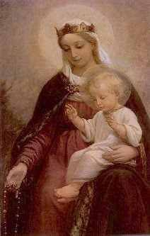Our Lady of The Rosary. Lovely image.