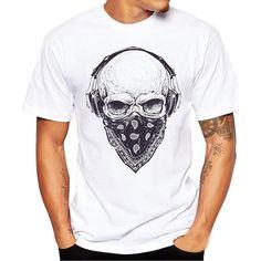 b90f641e9 oodji t shirt men Skull Printing Tees Shirt Short Sleeve T Shirt man s  T-shirt 2018 Spring Summer hip hop shirt