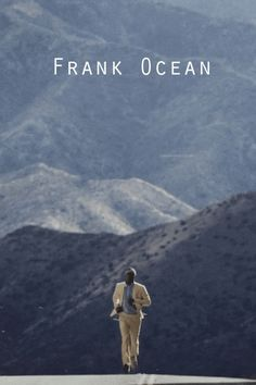 I really like this album cover by Frank Ocean. First, I like how vintage it looks. It looks like it was taken by an older camera. I also love the scenery. The mountains in the background present peacefulness. The man running also makes you question. Why is he running? What is he running from? The font is also mysterious and different. Everything about this picture looks great!