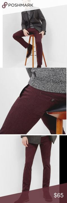 Ted Baker maroon trousers Sz 32 textured Textured chino trousers worn 1x maroon Retail $198 Ted Baker Pants Dress