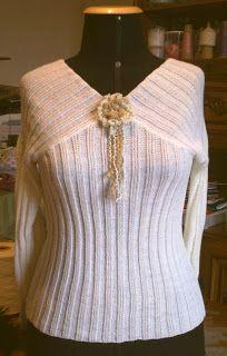 Tricô à Máquina Wire Crafts, Ruffle Blouse, Knitting Machine, Crochet, Sweaters, Tops, Women, Paintings, Fashion