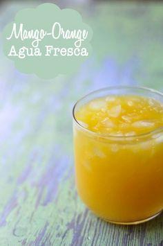Mango orange agua fresca