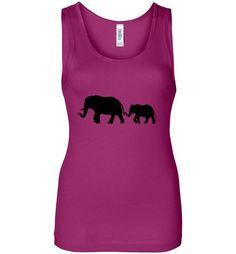 Women's Wide Strap Elephant Graphic Tank top