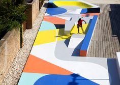 Marco Mangione crea composiciones de color para mejorar la lectura topológica de un skatepark en Ravenna - Dis-Up! Magazine | La fuente en español de inspiración y recursos de arquitectura, diseño y creación