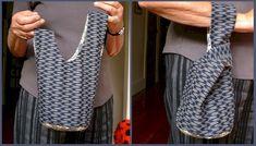 Free Japanese Knot Bag Sewing Tutorial & Pattern. (si la hacés de gasa o lentejuelas, es de fiesta!)