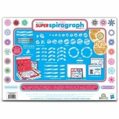 Create amazing art designs with the Spirograph Super Spirograph Design Set. The classic interchangeable Spiro-Tracks allow you to create your own unique patterned shapes, taking your designs to a whole new super level. Shape Design, Set Design, Art Pad, Geometric Drawing, Guide Book, 50th Anniversary, Toys For Boys, Cool Toys