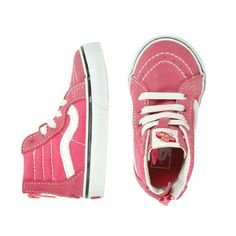 Vans Hi Zip Pink - mini mioche - organic infant clothing and kids clothes - made in Canada