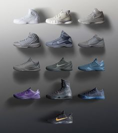 Kobe Bryant Nike Black Mamba Fade To Black Retro Pack (Images + Release Info) Kobe Bryant Sneakers, Nike Kobe Bryant, Black Queen, Mamba Noir, Reebok, Kobe 11, Kobe Bryant Black Mamba, Sneaker Bar, Kobe Shoes