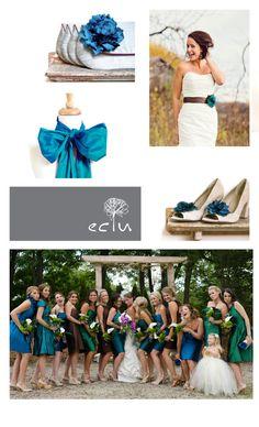 Peacock Wedding Party Bridesmaid Gift Idea Bridal Purse by eclu, $68.00
