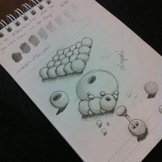 Desenho 12 de 365: Exercício 3/30 do livro You can draw in 30 days