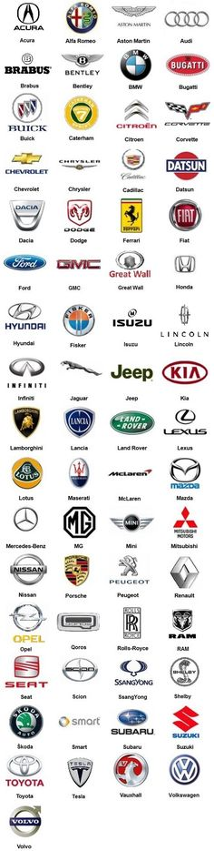 Logos – Vehicles is art Symbol Auto, Buick, Bugatti, Lamborghini, Subaru, Car Brands Logos, Auto Logos, Car Logo Design, Design Cars