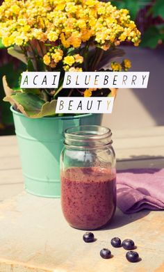 Superfood Smoothie Woche #2: Acai Blueberry Smoothie | healthy soulfood