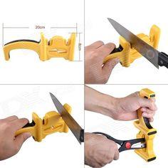 Portable Handheld Kitchen Knife Sharpener - Blue from dx.com for $11.15