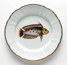 Antique Fish 9.5 In Dinner Plate No. 5 | Gracious Style