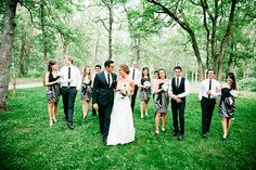 the bridal party // great shot! // by justin battenfield photography