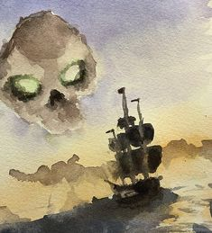 Sea of Thieves in watercolor