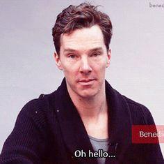 Oh, hello. (.GIF) Benedict #Cumberbatch