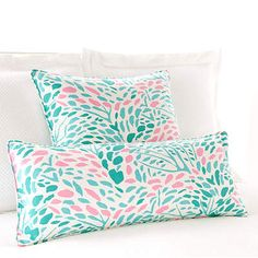 Lilac Boudoir Pillow in Pink and Teal