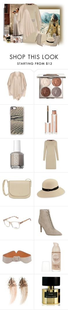 """Sand Palette"" by lence-59 ❤ liked on Polyvore featuring Fraas, Chantecaille, Casetify, Givenchy, Essie, Lauren Ralph Lauren, Mansur Gavriel, Karen Kane, Love and Sonia Rykiel"