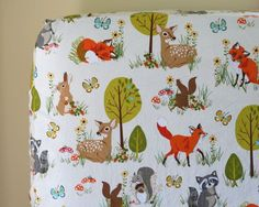 Forest Minky Baby Blanket Woodland Baby Nursery by DelvaBTree