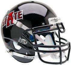 Arkansas State Indians Authentic Schutt XP Full Size Helmet - Matte Black
