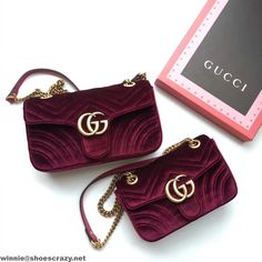 Gucci GG Marmont Velvet Small Shoulder Bag 443497 2016