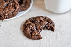 Mocha Almond Fudge Cookies ... they look so good (disagree about nuts in cookies and brownies though)